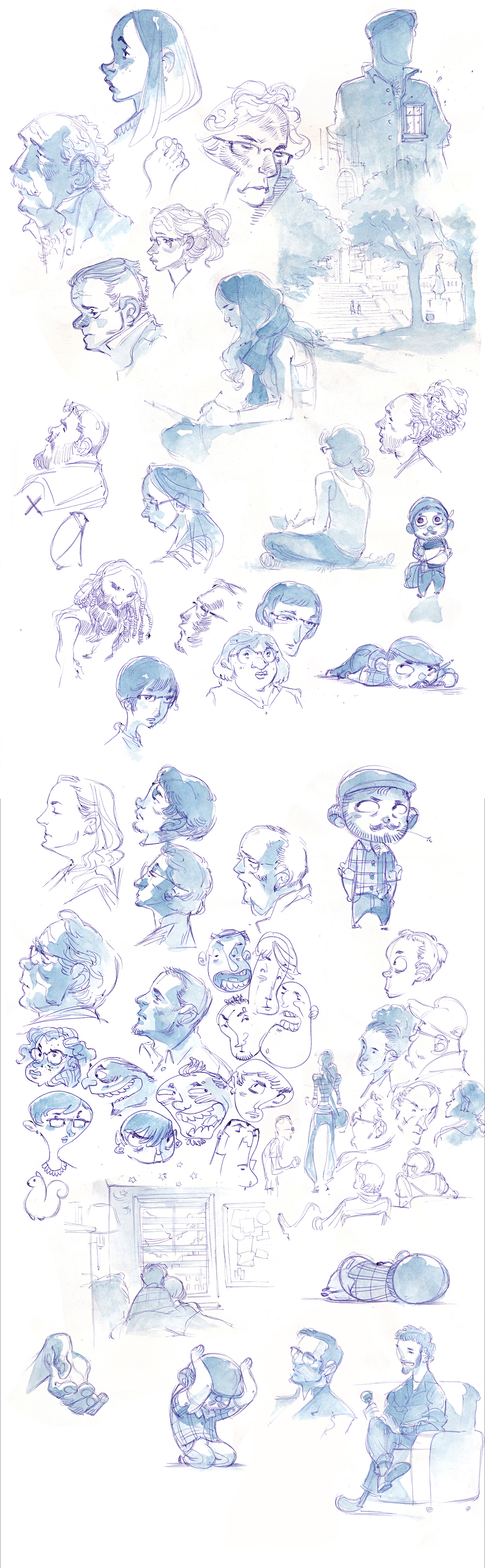 Watercolor Sketches from ICON7 by nicholaskole