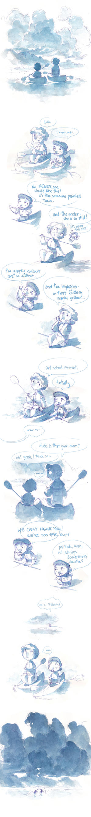 Watercolor Comic - Clouds by nicholaskole