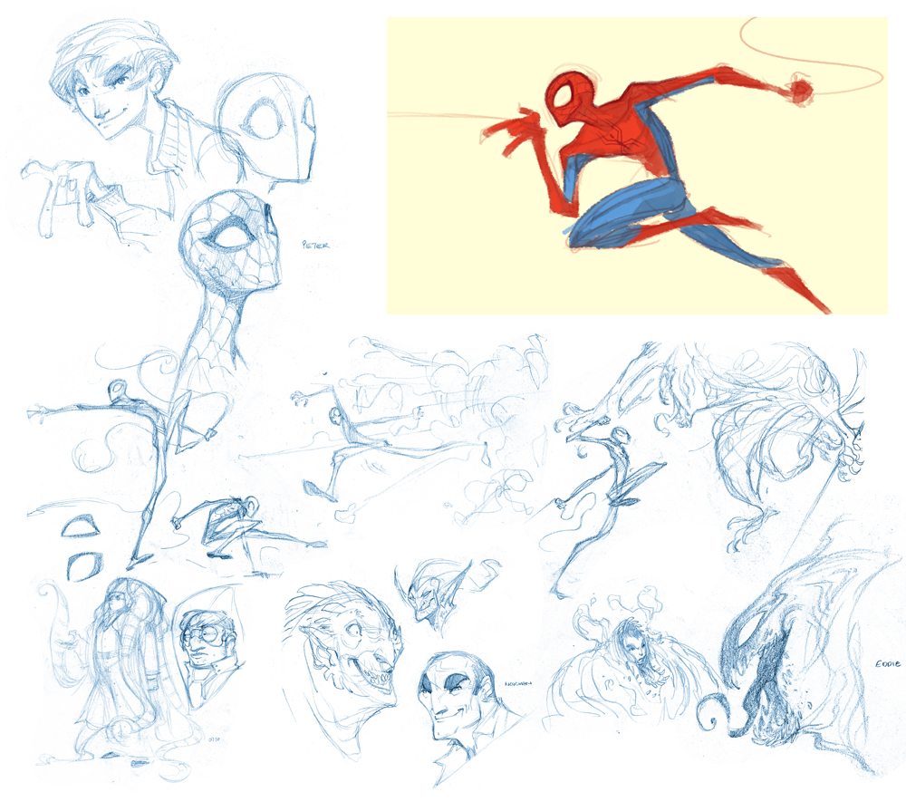 Spidey Sketches by nicholaskole