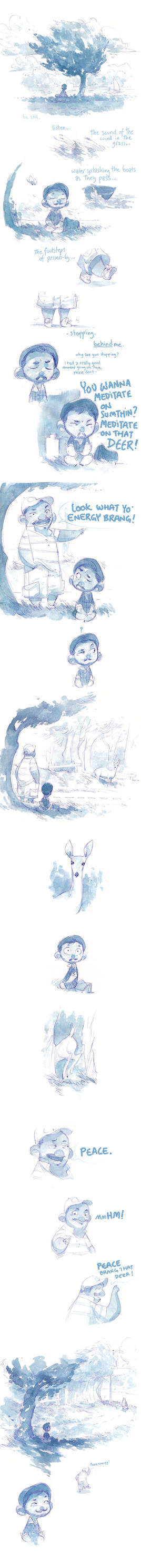 Watercolor Comic - Peace Energy by nicholaskole