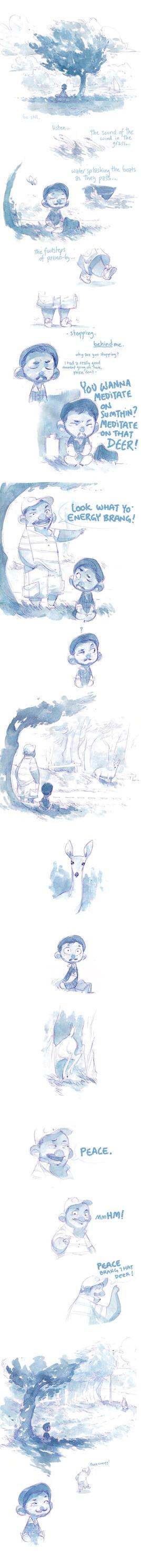 Watercolor Comic - Peace Energy by nicholaskole