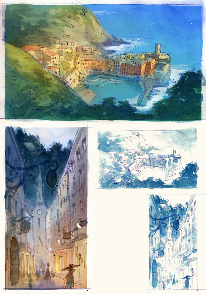 Watercolor Landscape Sketches by nicholaskole
