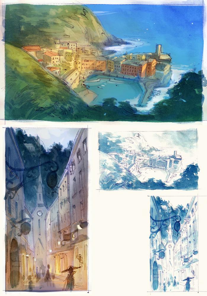 Watercolor Landscape Sketches by nicholaskole