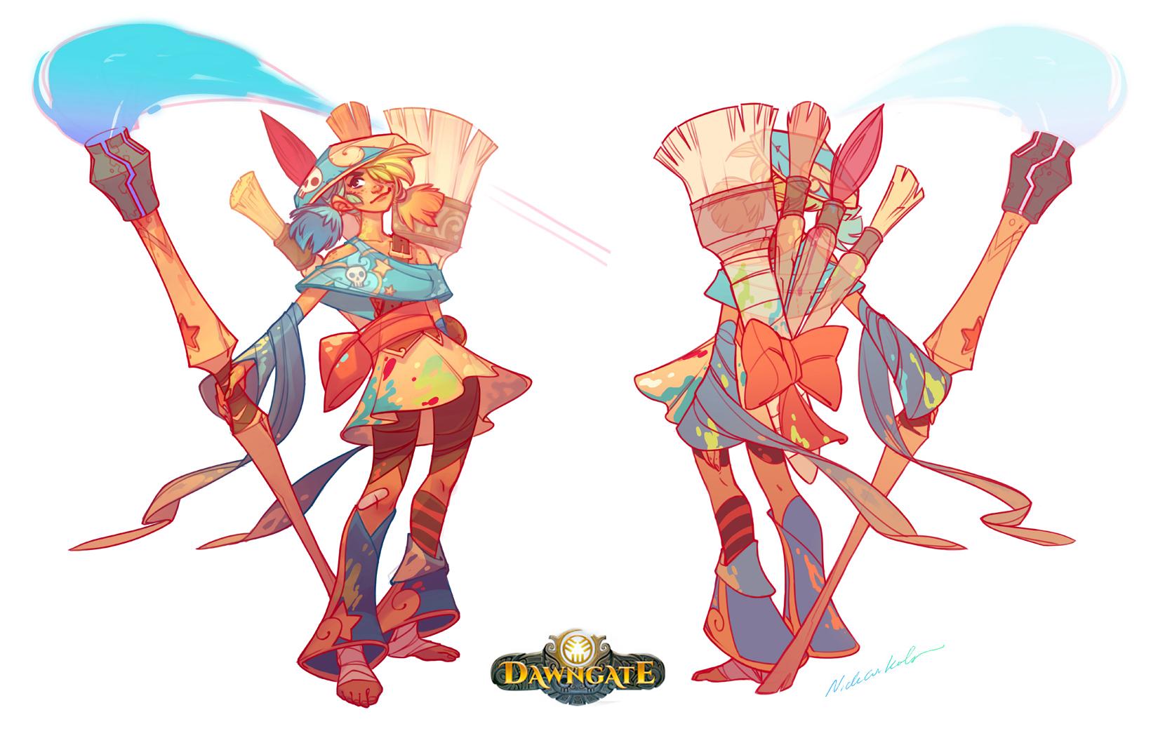 Dawngate Concept - Zeri! by nicholaskole