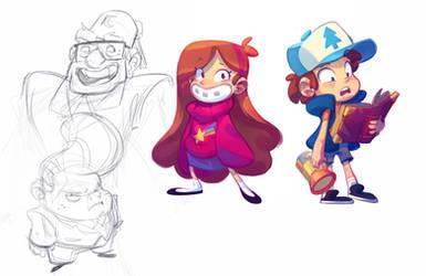 Dipper, Mabel and Crew!
