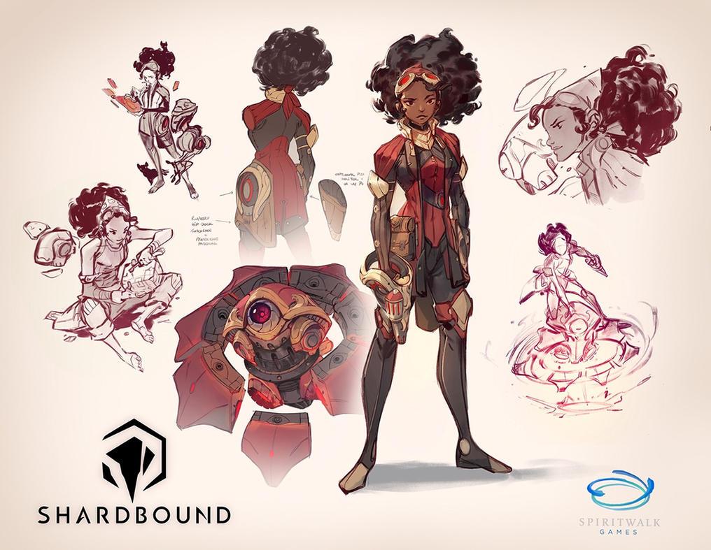Character Design Appearance : Sharbound petra and rupert by nicholaskole on deviantart