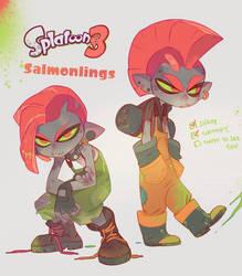 Splatoon - Salmonlings by nicholaskole