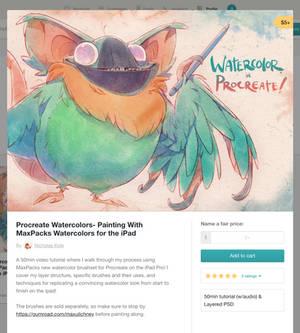 Watercolor Tutorial w/ MaxPacks on the iPad Pro!
