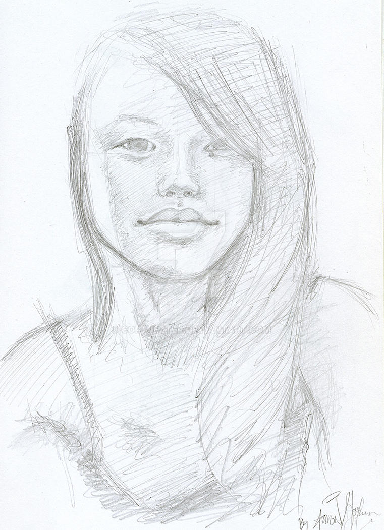 Korean Girl Sketch By Cortjezter On DeviantArt