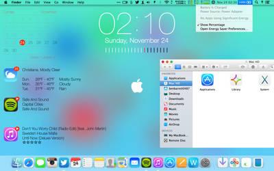 MAC iOS 7 THEME - MAVERICKS (LINKS IN DESCRIPTION) by benbarrett0487