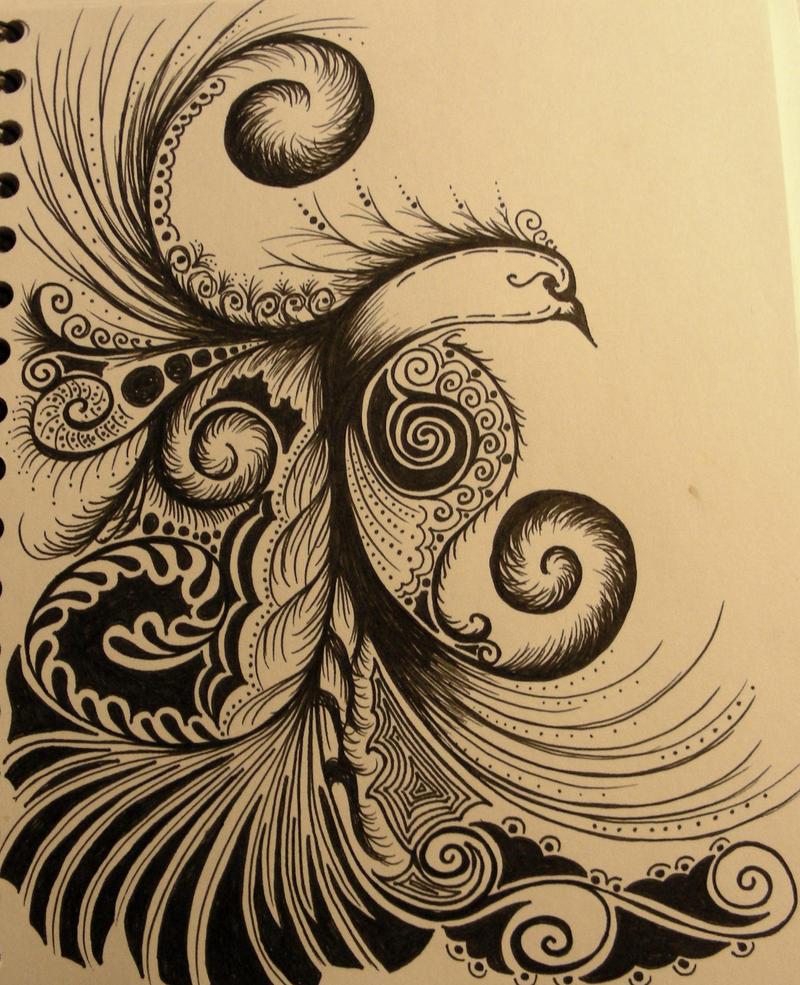Phoenix tatto practice by MissTessera