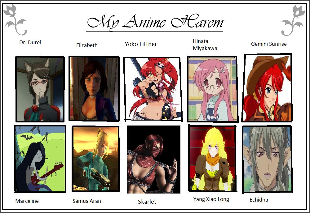 My Anime Harem by Angelsevilsister on DeviantArt