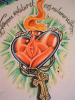Sacred heart by chrisxart