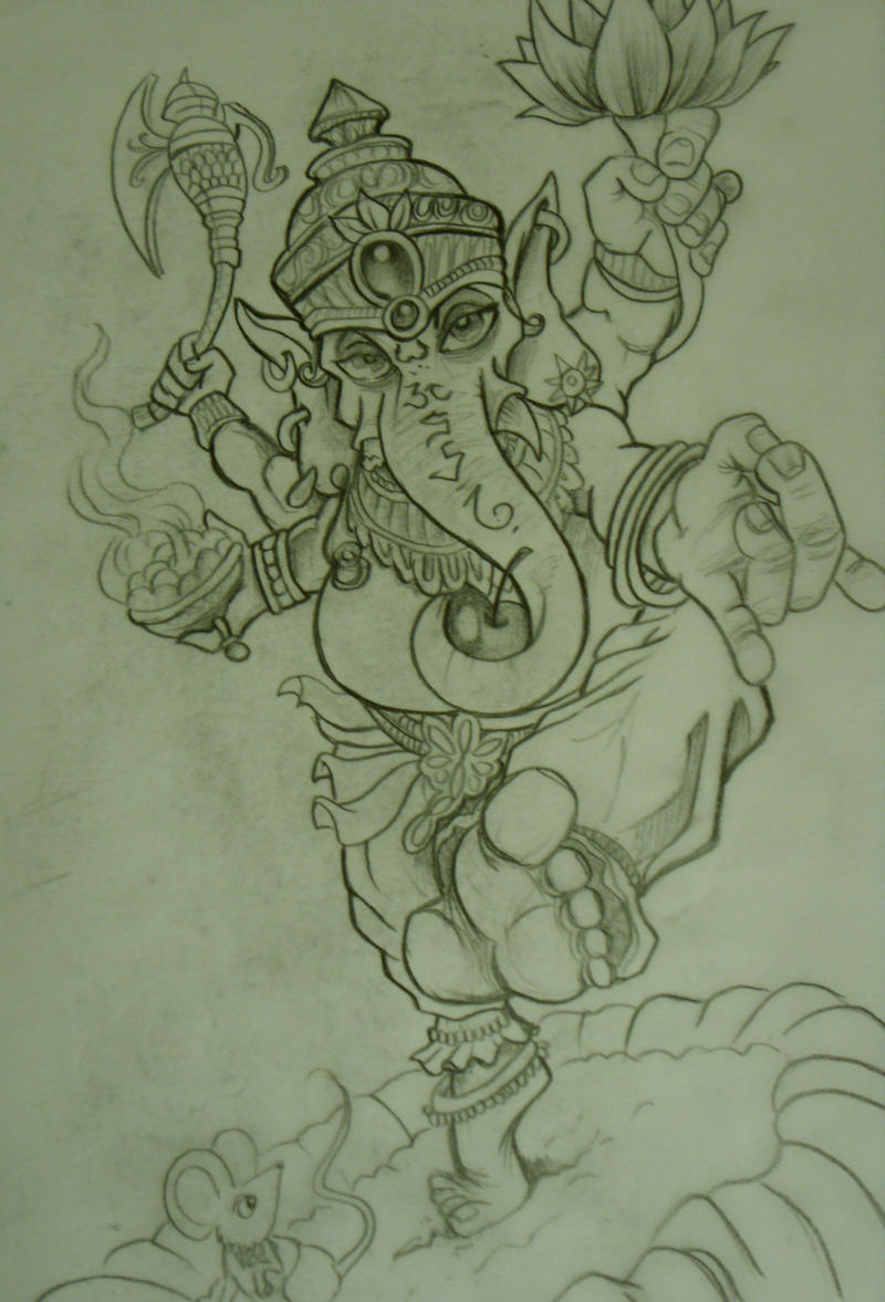 Ganesh Drawing Tattoo Ganesh Tattoo Sketch by