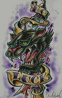 panther tattoo design by chrisxart