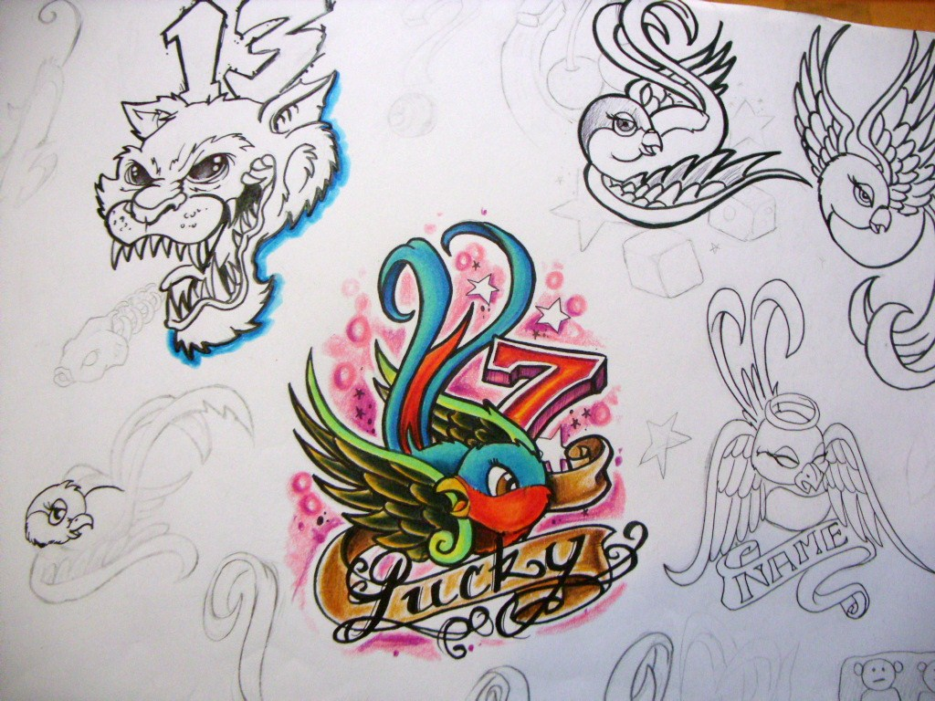 28 lucky 7 tattoo designs image gallery lucky 7 for Lucky seven tattoo