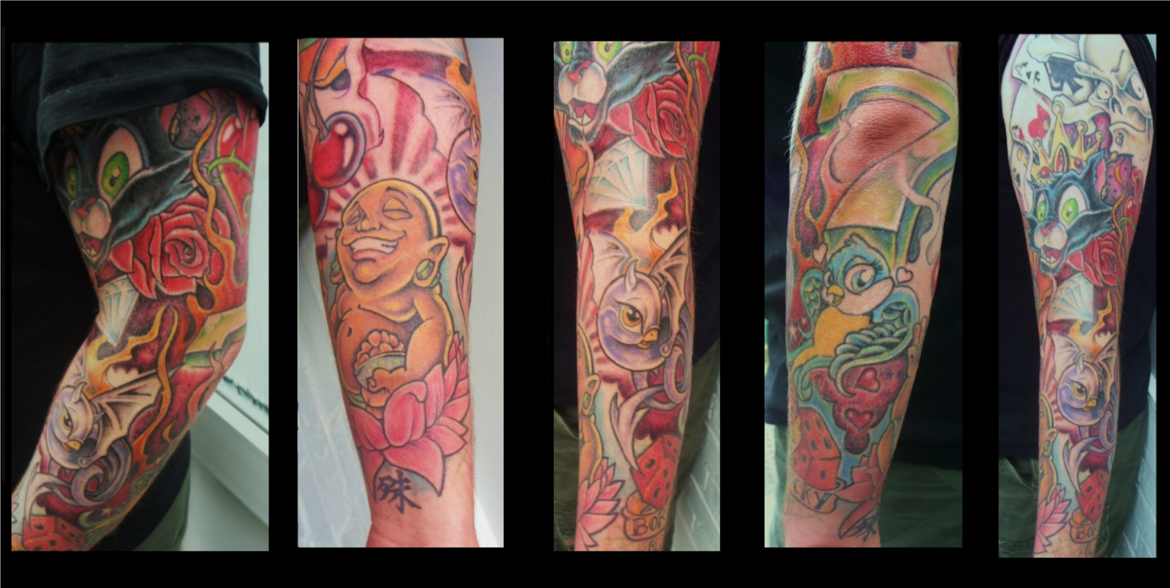 New skool sleeve by chrisxart