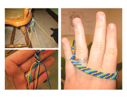 Friendship Bracelet +tutorial by CyanideAndCake