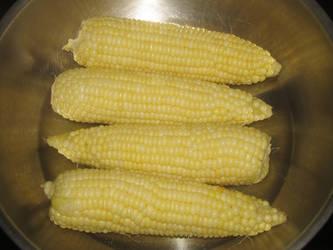 Boiled White Corn