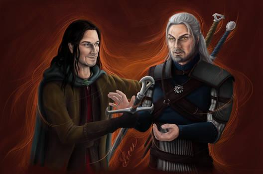 Aragorn and Geralt
