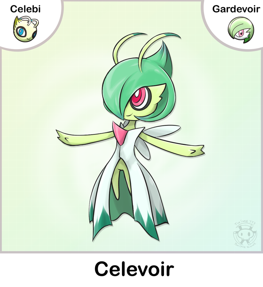 Celebi + Gardevoir Fusion by Twime777 on DeviantArt