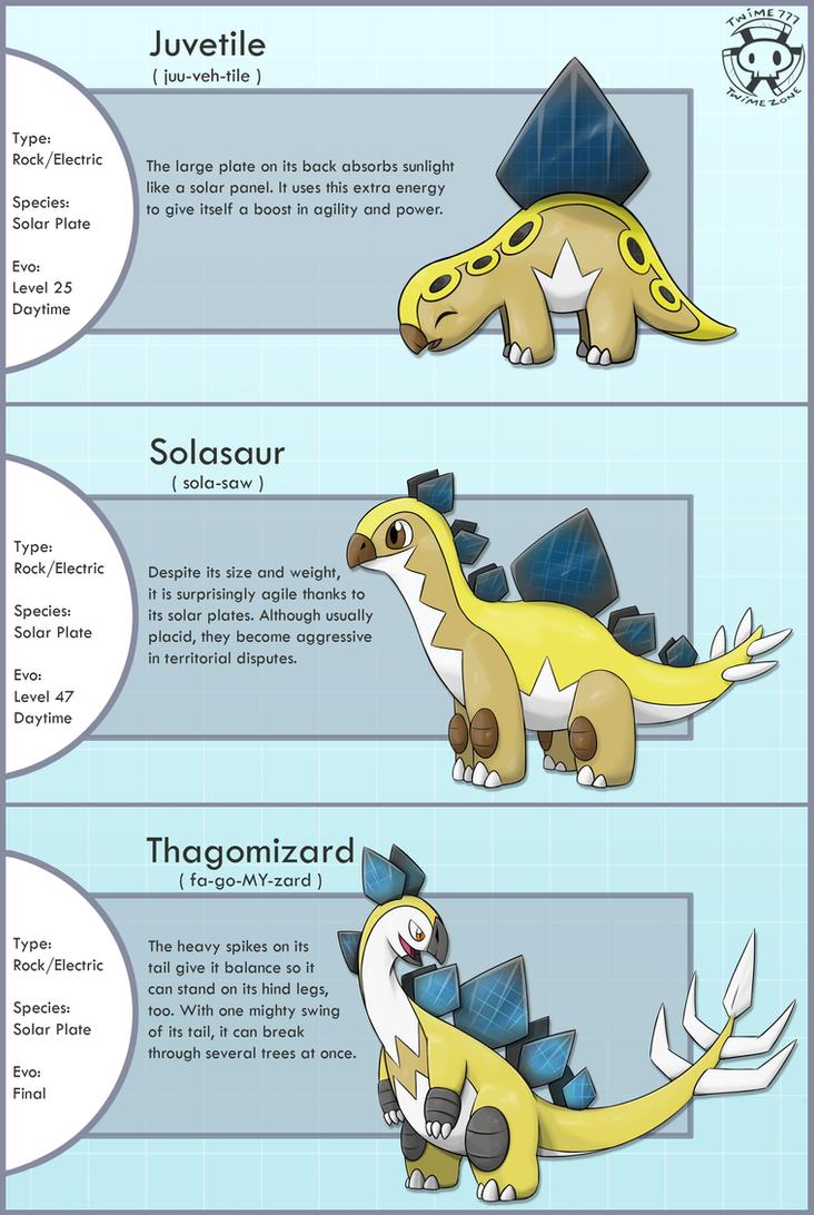 Solar Stegosaurus Fakemon by Twime777
