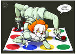 Pennywise plays Twister