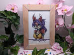 Lilac cross stitch by Damera6