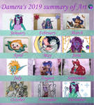 Damera s 2019 summary of Art by Damera6