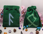 Ansuz and Othala dice bag by Damera6