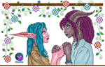 Tristyana and Cymoril by Damera6