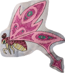 Pink Nightflies cross stitch by Damera6