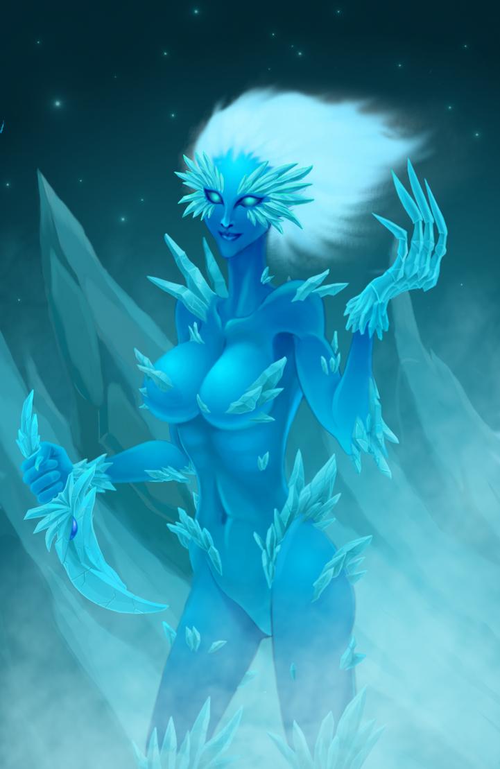 Ice Elemental by Cuddlesthefatcat
