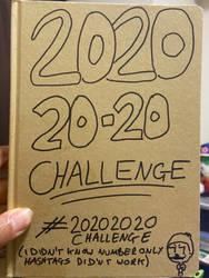 20202020 Challenge - Sketchbook Cover