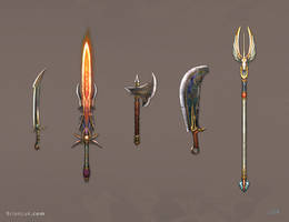 Weapon Set 1 by BrianLukArt