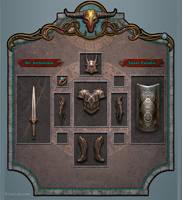 Fantasy UI design by BrianLukArt