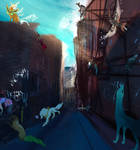 Busy alleyway