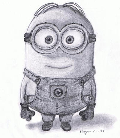 Minion by MarkusBogner on DeviantArt Minion Drawing Dave