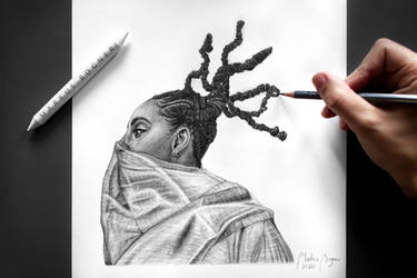Drawing of Alicia Keys + Speedpainting on YouTube