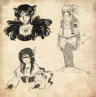 Sketches - Wild Girls by Royal-Flan