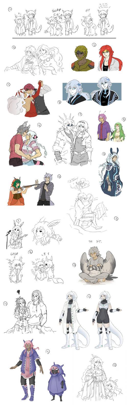 [Gijinkas] Sketchdump 4