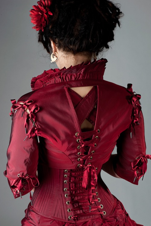 Red Bolero Jacket Back by Cuddlyparrot