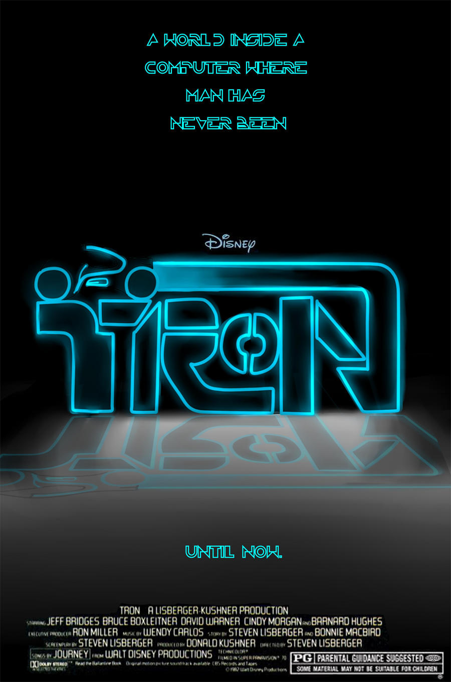 Tron Movie Poster Project By AzureBladeXIII
