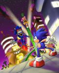 Showdown on Stardust Speedway Metal Sonic Appears