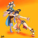 SFXT Fan art Ling Xiaoyu and Chun-Li