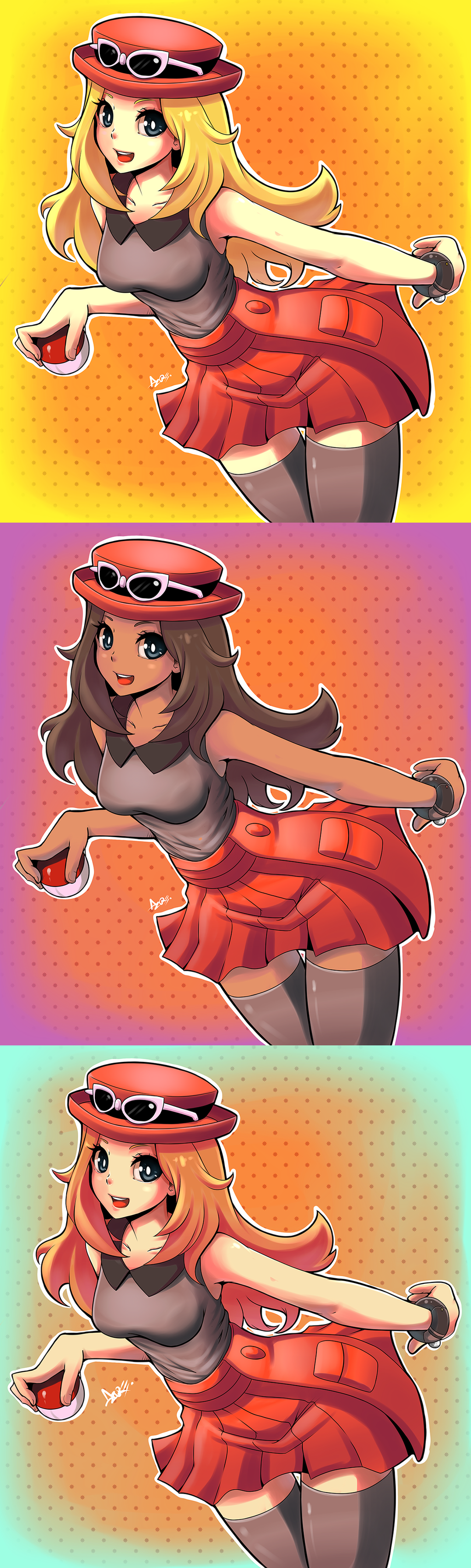 Pokemon XY female trainer by AzureBladeXIII