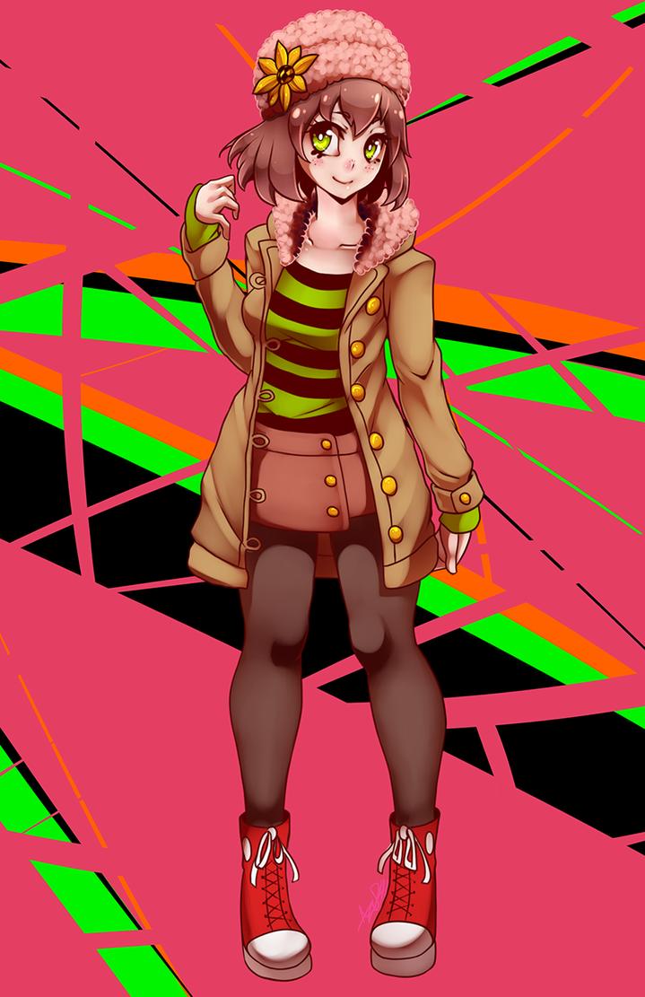 Commission Girl by AzureBladeXIII