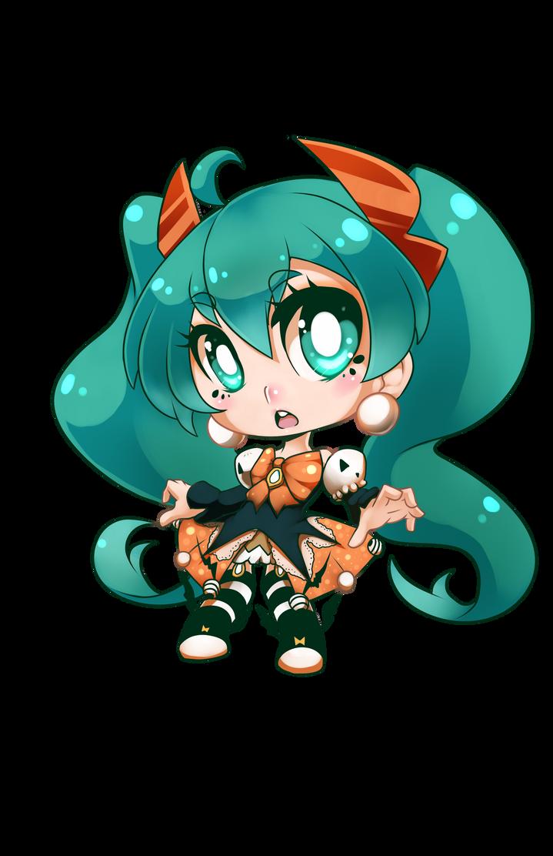 Halloween Miku by AzureBladeXIII