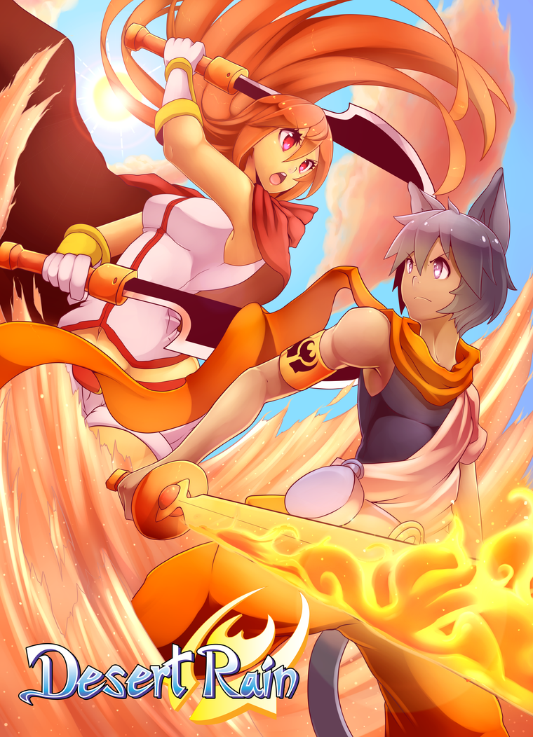 Clash in The Desert! Solan's Flames Burst. by AzureBladeXIII