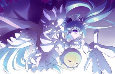 Hatsune Miku Shiro by AzureBladeXIII